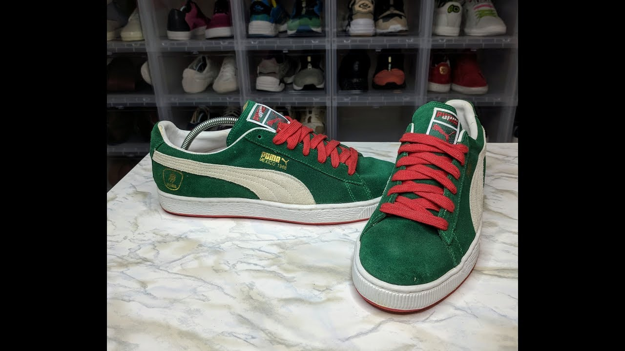 3d93647eb9c Puma Suede Mexico 1968 Olympic - YouTube