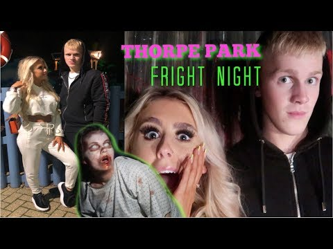 WE TOOK ON THORPE PARK FRIGHT NIGHT | Is It Really Scary? W/ My Boyfriend And Friends