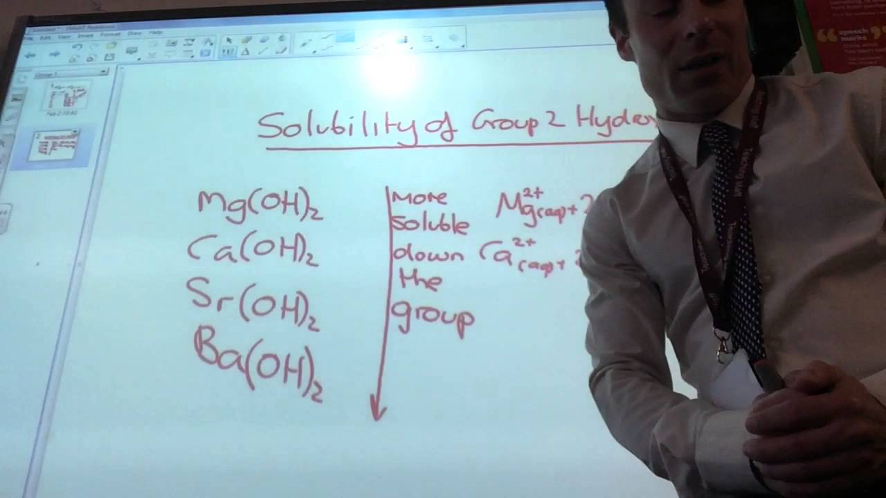 Group 2 hydroxides and sulphates solubility trends youtube gamestrikefo Images