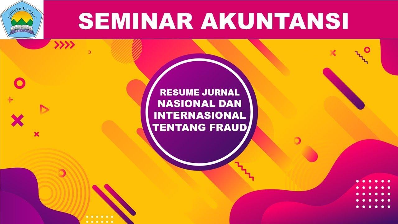 Siti Aisyah Seminar Akuntansi Resume Jurnal Nasional Dan Internasional Bidang Audit Youtube