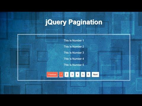 Jquery Pagination Tutorial, Pagination Jquery Example Code