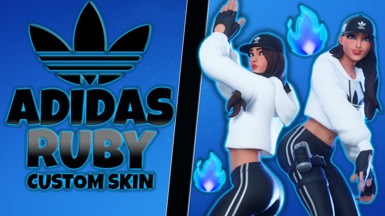 Fortnite: Custom Adidas Ruby Skin Showcase - YouTube