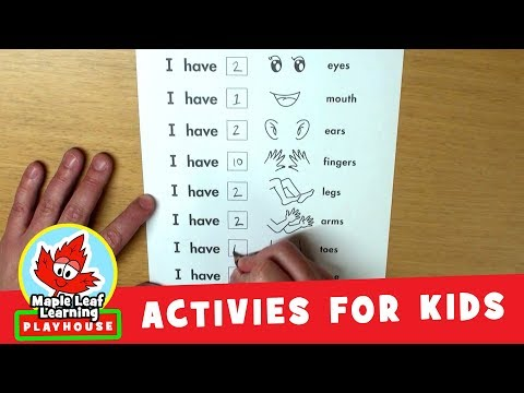 Counting Body Parts Activity for Kids | Maple Leaf Learning Playhouse