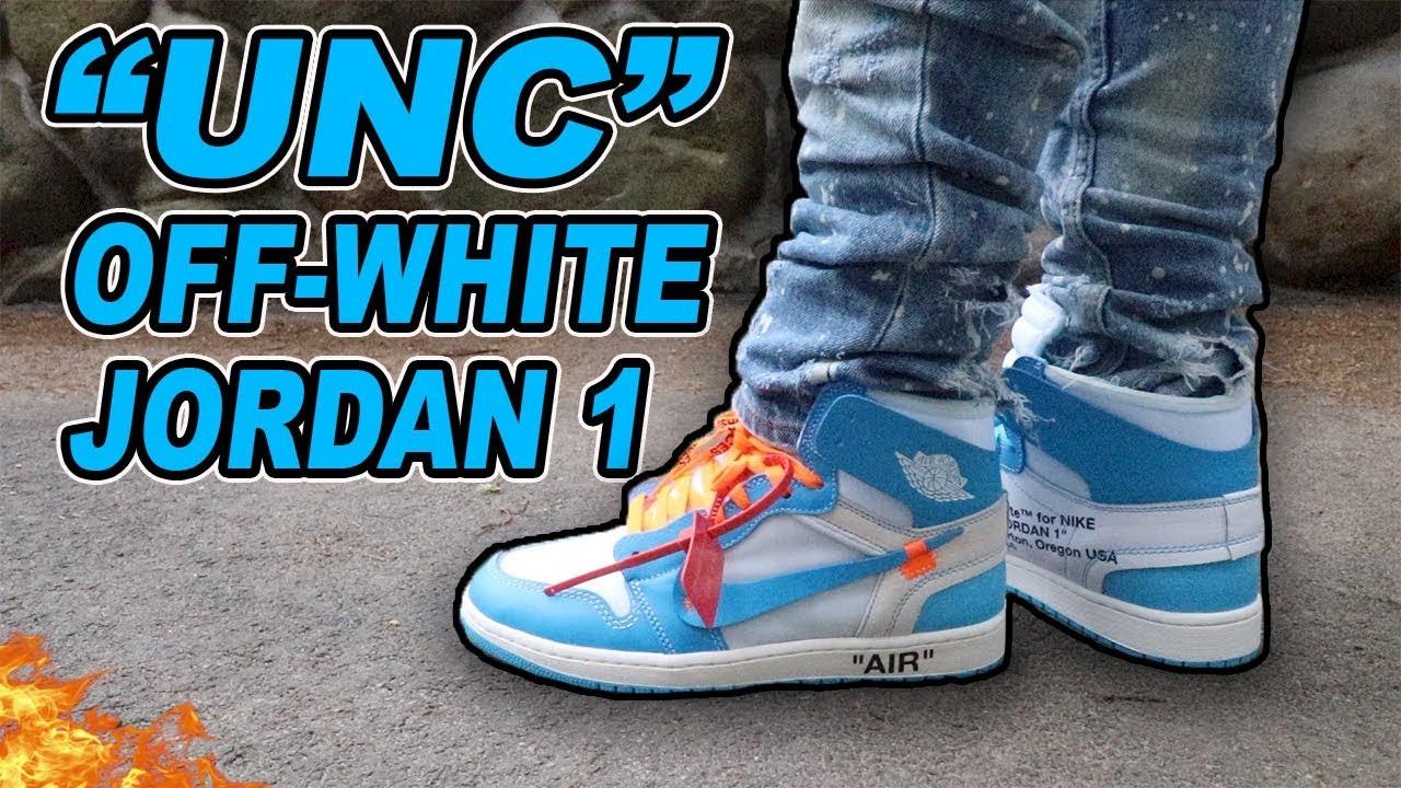 air jordan 1 off white blue outfit