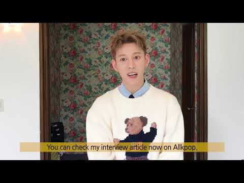 Block B's Park Kyung greeting to allkpop and fans