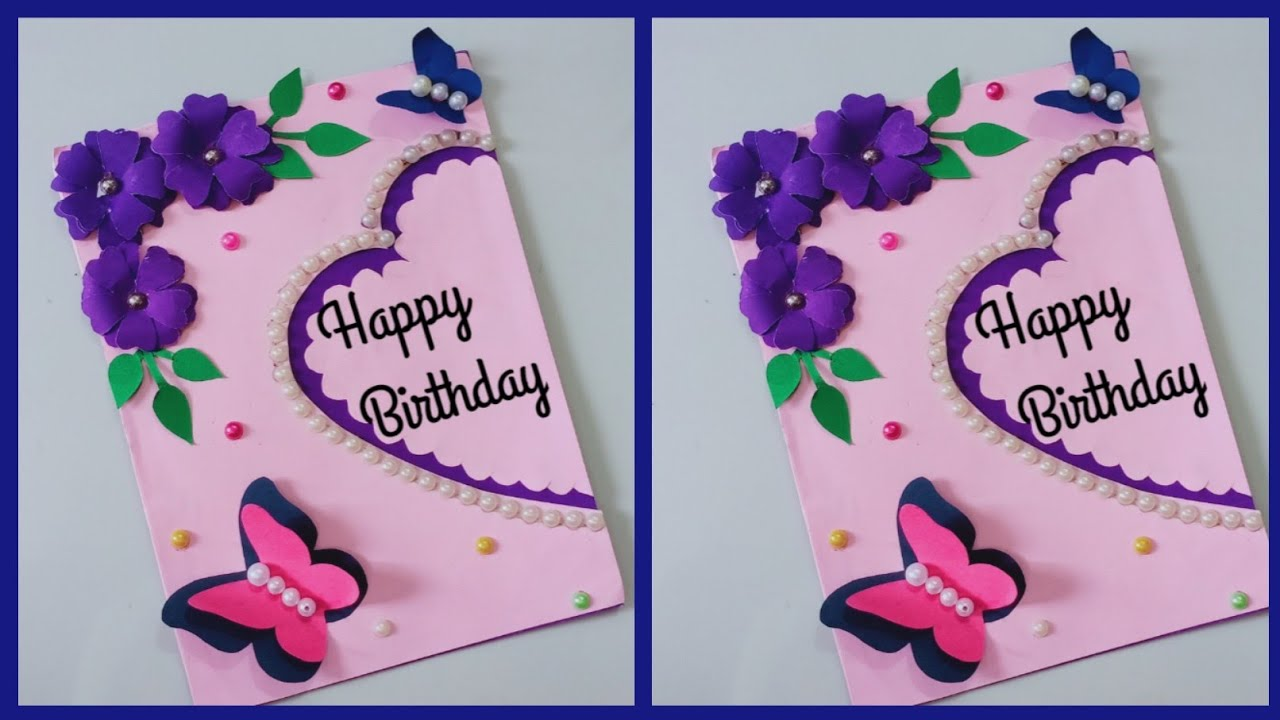 happy birthday card ideas easy  how to make birthday card