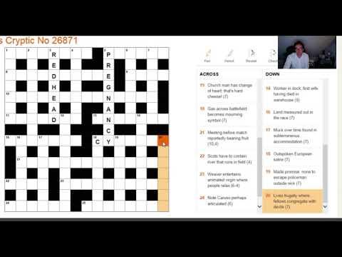 Beginner video: Solving The Times crossword on 1 Nov 2017
