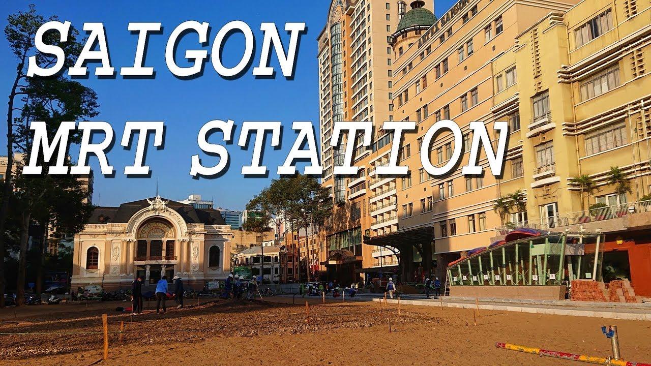 Lộ diện cổng ga tàu điện ngầm đầu tiên ở Sài Gòn   Saigon MRT