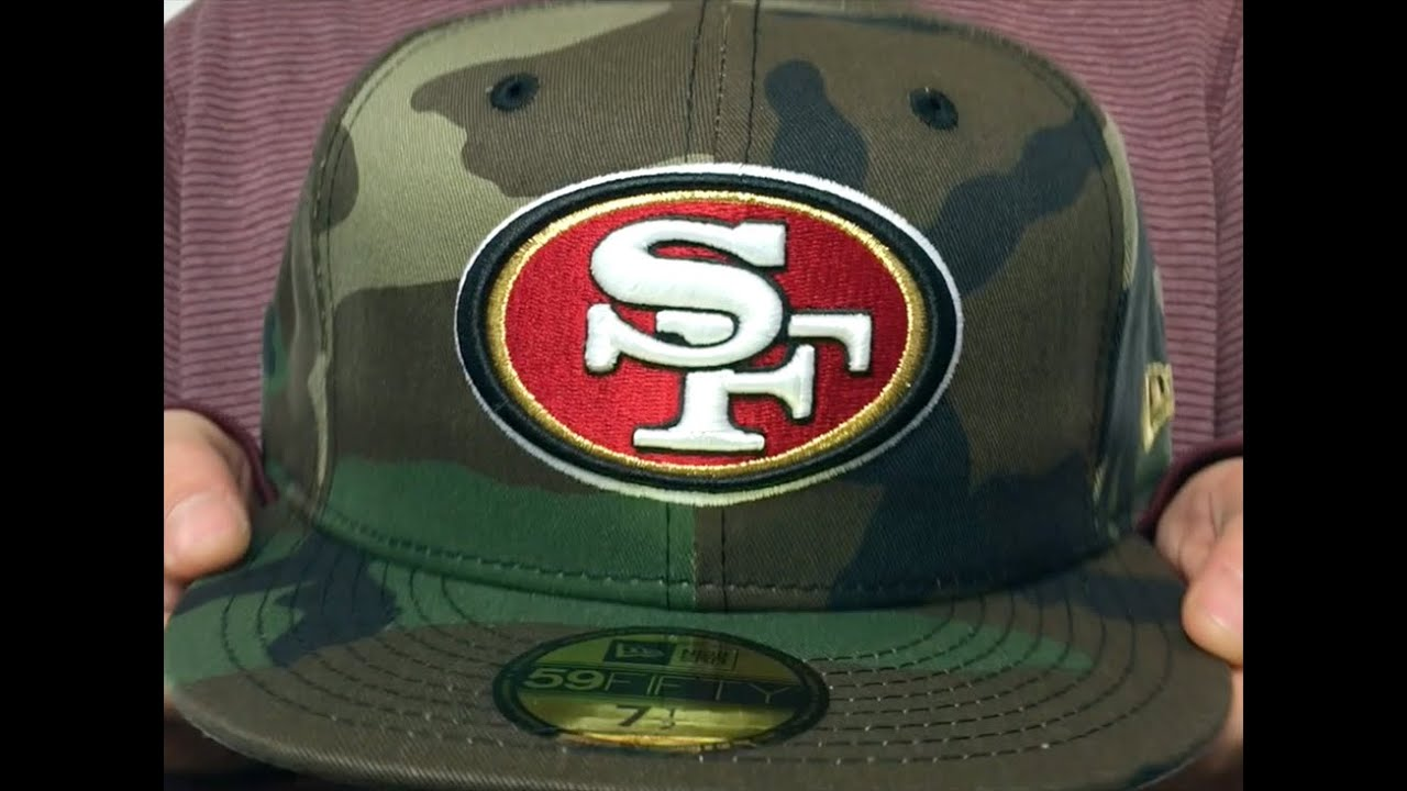 f125edca05e 49ers  NFL TEAM-BASIC  Army Camo Fitted Hat by New Era - YouTube