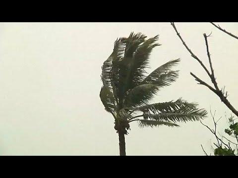 Typhoon Nesat makes landfall in Taiwan