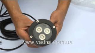 подводный светодиодный rgb светильник a3l rgb m tek