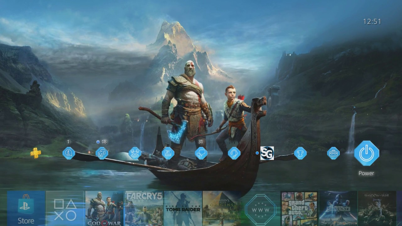 God of war dynamic theme ps4 youtube - God of war wallpaper for ps4 ...