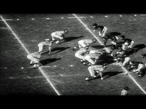 HD Stock Footage Los Angeles Rams vs. Chicago Bears 1956
