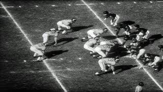 HD Stock Footage Los Angeles Rams vs. Chicago Bears 1956