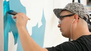 Meme Mural Comes To Life In 60 Seconds - Timelapse