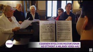 Csaknem nyolcvan muzsikusnak ad otthont a milánói Verdi-ház