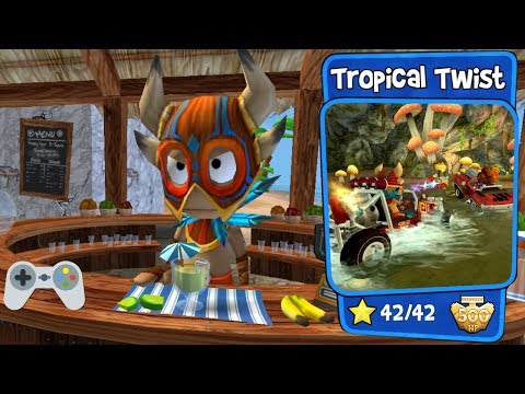 Beach Buggy Racing - Tropical Twist - Full Gameplay - All Stars!!!