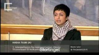 Hadia Tajik: Om Store Norske Leksikons fremtid