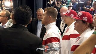 BEHIND THE SCENES WITH CANELO ALVAREZ MOMENTS BEFORE SERGEY KOVALEV MISSED WEIGHT