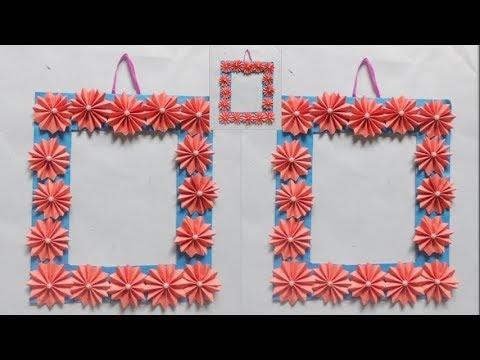 Photo Frame Idea Using Crafts Paper→How To Make Photos Frame→DIY ...