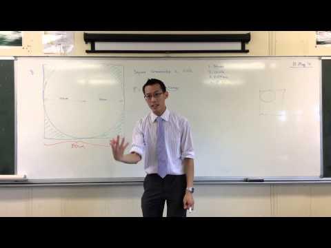 Probability/Area Problem (Example 1: Square Circumscribing a Circle)