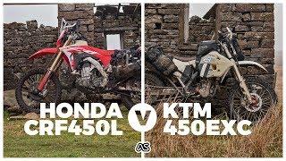 Honda CRF450L v KTM 450EXC - The lightweight ADV bike Test