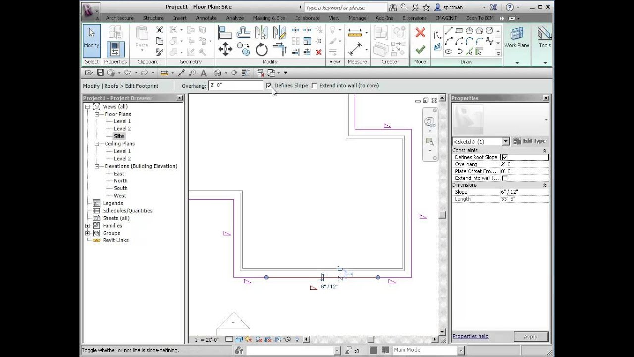 Revit Roof How To Add A Gable In Line With The Face Of