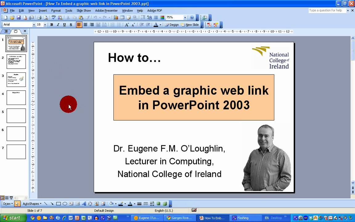 How To Embed A Graphic Web Link In Powerpoint 2003