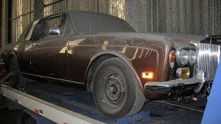Abandoned 1974 Rolls Royce Corniche Coupe Restoration Project