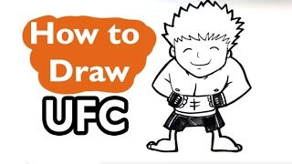 How to Draw UFC Fighter (Cute) - Easy Pictures to Draw