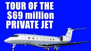 Tour of the $69Million private jet | Gulfstream 650ER  | HD