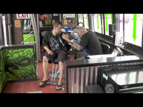 New Life For Old Trimet Bus Mobile Tattoo Parlor