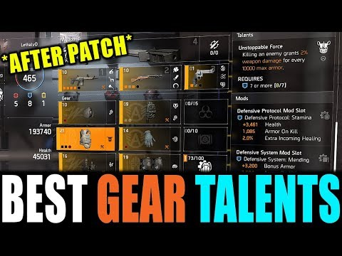 The Division 2 - BEST GEAR TALENTS TO USE AFTER PATCH | BEST DAMAGE & SURVIVABILITY TALENTS thumbnail