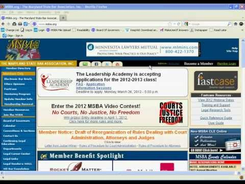 Maryland Bar Journal Online Tutorial