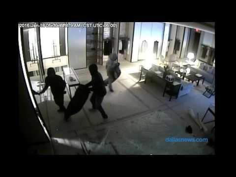 Surveillance video: Chanel store smash-and-grab at Highland Park Village
