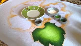 Ensinando pintar folhas de uva com lia Ribeiro