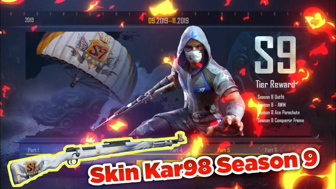 PUBG Mobile Leak Reward Season 9 : Skin Kar98 SS9 • APK Download Beta 0 14  RP SS9 PUBGM