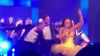 """I wanna dance with somebody"".        The Bodyguard tour - Zoe Birkett       finale"