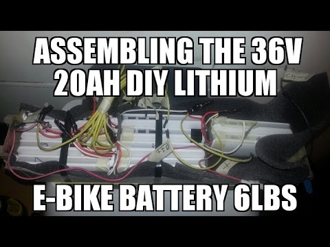 DIY Electric E-Bike Battery Build Lithium Ion Part 4 Assembly Techniroux Power Bank 20Ah 36v