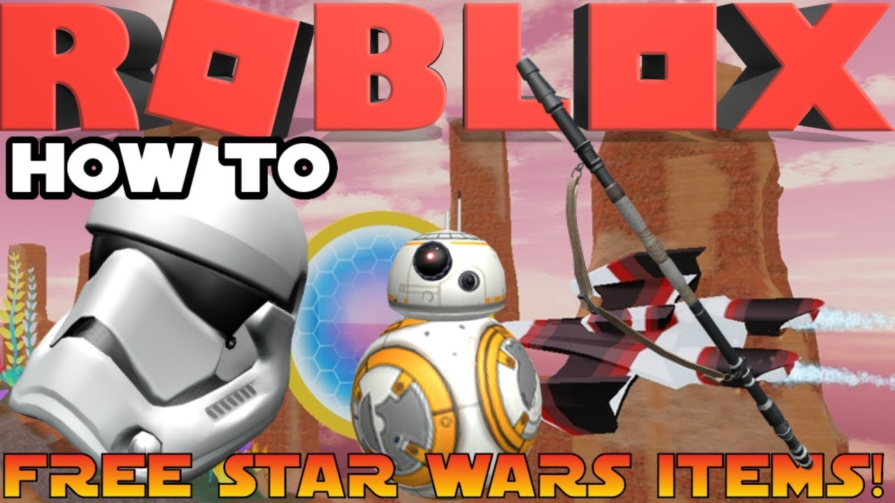 Roblox Star Wars Event How To Get Bb 8 Stormtrooper Helmet Rey S Staff All Items Youtube