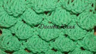 Вязание спицами. Узор - крокодиловая кожа или чешуйки  ///  Knitting. crocodile skin or scales