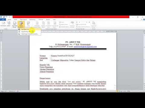 INTEGRASI APLIKASI OFFICE: membuat surat yang bersifat dinamis