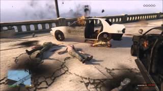 GTA 5 Brutal/Funny Kill Compilation 1 Beach/Flare Gun/Hatchet/Cops