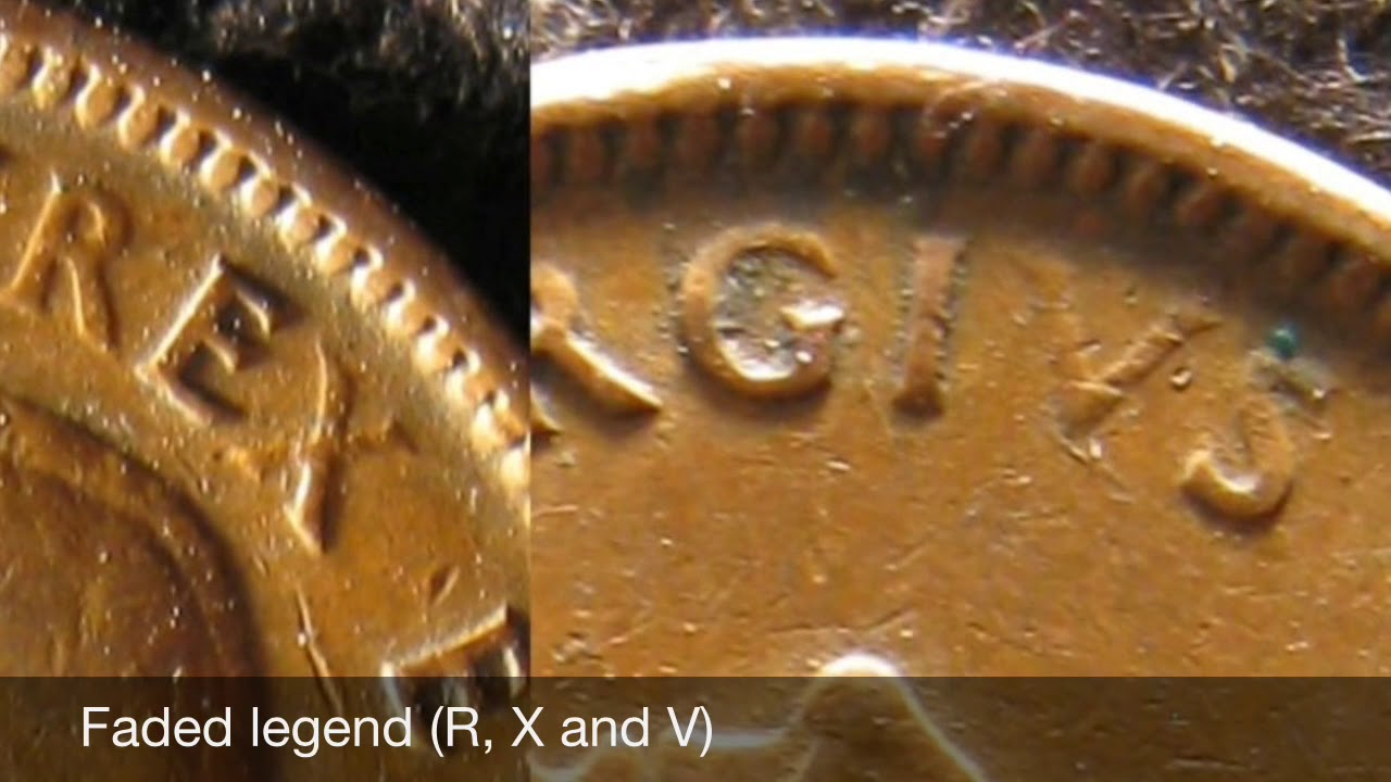 Errors on the 1942 canadian 1 cent - error coins hunting