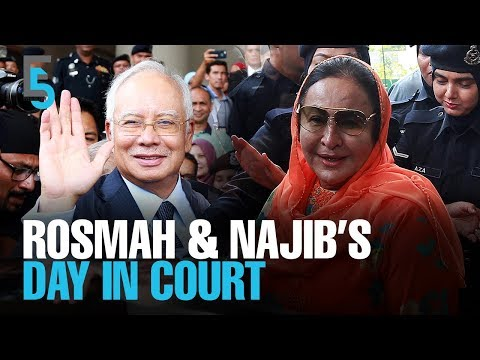 EVENING 5: Najib and Rosmah spend the day in court
