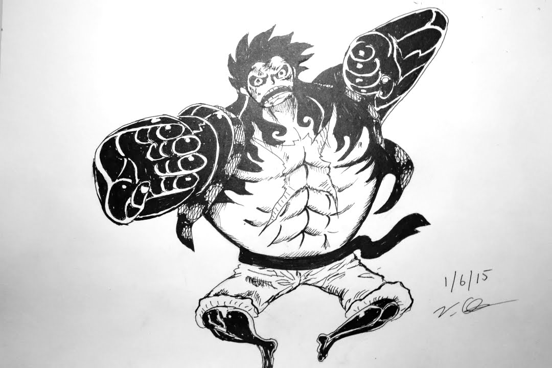 Drawing Luffy Gear 4 One Pieceワンピース Youtube