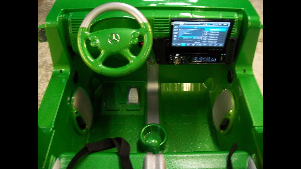 Modified power wheels custom built green mercedes benz for Mercedes benz g55 power wheels