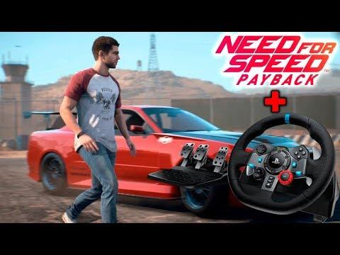 Hago drift con el volante real en Need for Speed Payback! | BraxXter