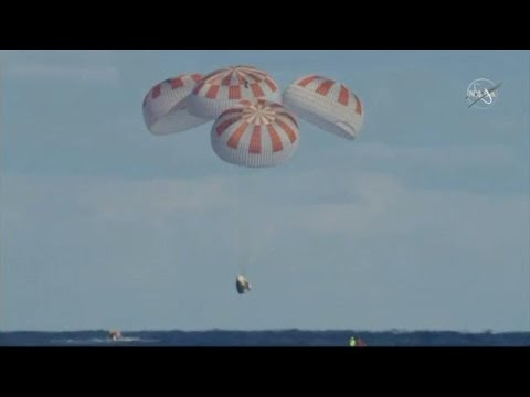 SpaceX completes historic Crew Dragon test flight for NASA with splashdown in ...