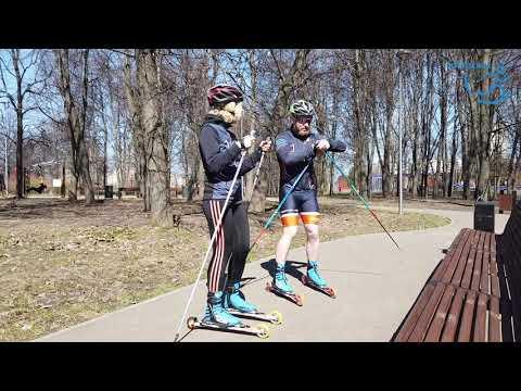 #Маша_сможет. Первая тренировка на лыжероллерах. Спорт-челлендж, часть 2.